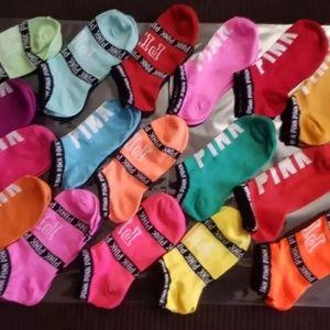 """20 Pairs Women's """"VS Pink Socks"""""""